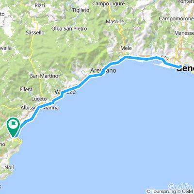 Savona-Genova e ritorno 105Km