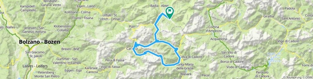 San Cassiano - Sottoguda - Fedaia - Pordoi