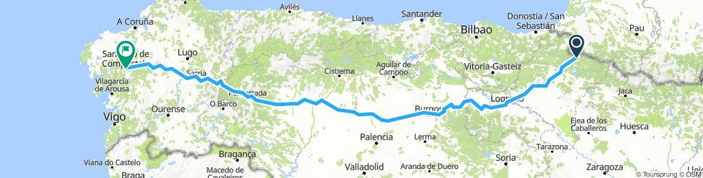 Santiago classico da roncisvalle