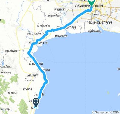 Cha-Am beach to Bangkok