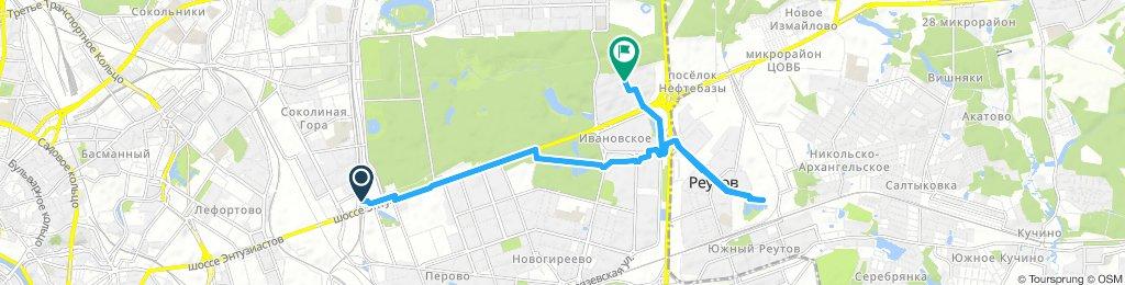 Морозная зимняя декабрьская доставка в Реутов с МЦК Шоссе Энтузиастов 17-12-2018