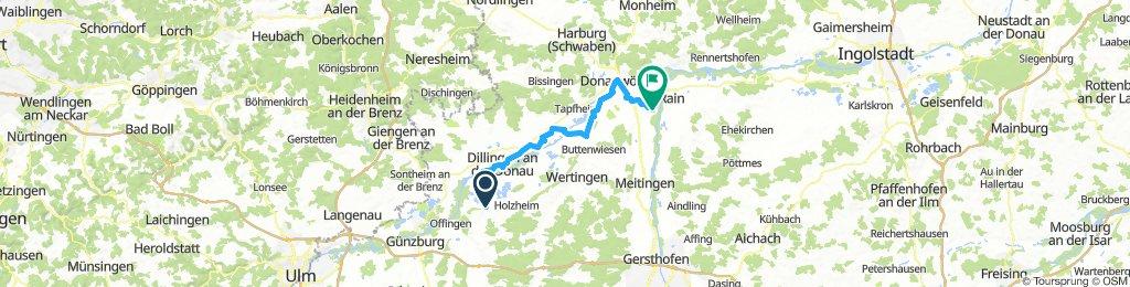Aislingen bis Oberndorf am Lech