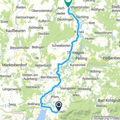 Halblech bis Hohenwart Fuchstal