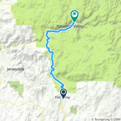 Tenaya Lodge to Yosemite Valley