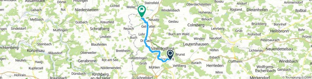 Von Dombühl zur Fuchsmühle