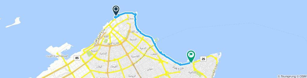 Moderate route in Salmiya