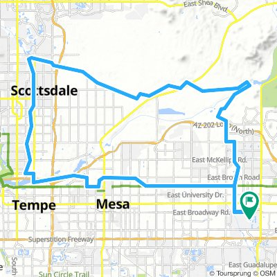 Cycling routes and bike maps in and around Gilbert | Bikemap ... on chandler map, highland high school map, sun city map, phoenix communities map, silver bay map, scottsdale map, apache jct map, oracle map, east mesa map, san tan map, marana map, wickenburg map, phoenix metro map, glendale peoria map, avondale map, beckley map, tolleson map, baudette map, tempe mesa map,