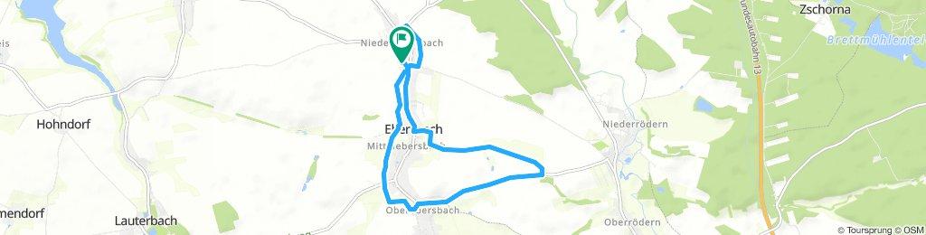 Sportplatzrunde durch Ebersbach