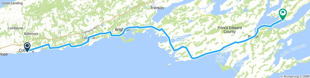 6of12 SouthCentralON - 10a Cobourg, ON to Adolphustown, ON (UEL Heritage Centre & Park - Campground) 114km