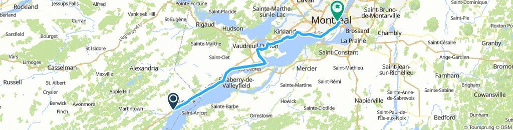 8of12 QC - 02c Lancaster, ON to Montréal, QC (HI Montreal Hostel) 99km