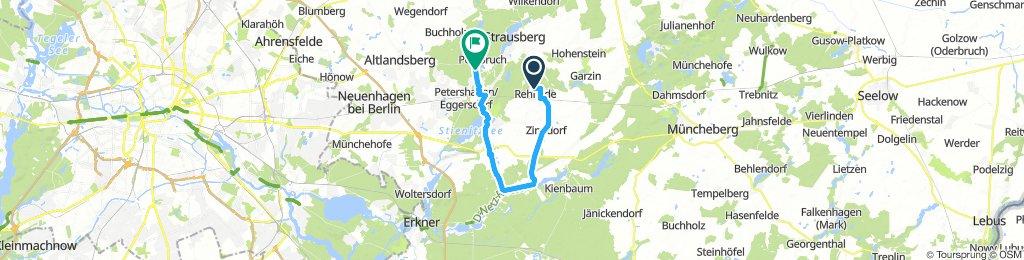 Gerade Fahrt in Rehfelde.-Kagel-Möllensee-Herzfelde-Torfhaus