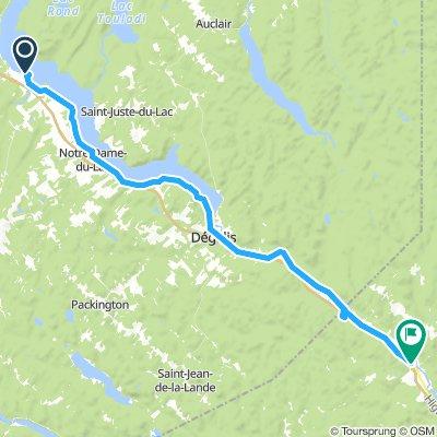 9of12 NB - 01b Témiscouata-sur-le-Lac, QC to Edmundston, NB (Camping de la republique) 54km