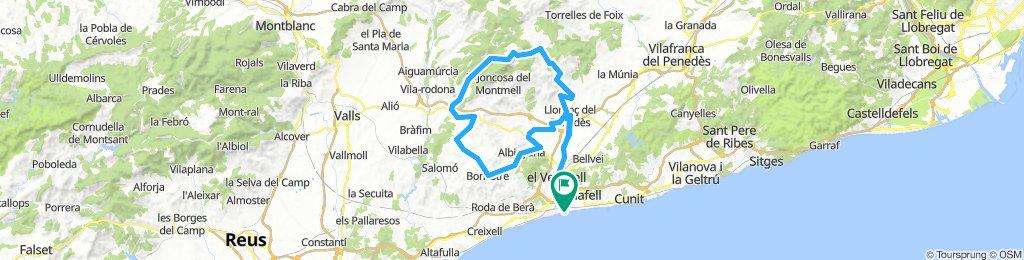 Sant Salvador-Llorenç-Les Ventoses-Aiguaviva-Rodonyà-Bonastre-Albinyana-Llorenç-Sant Salvador