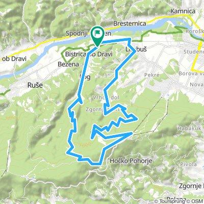 Vzpon na Pohorje z Bistrice ob dravi