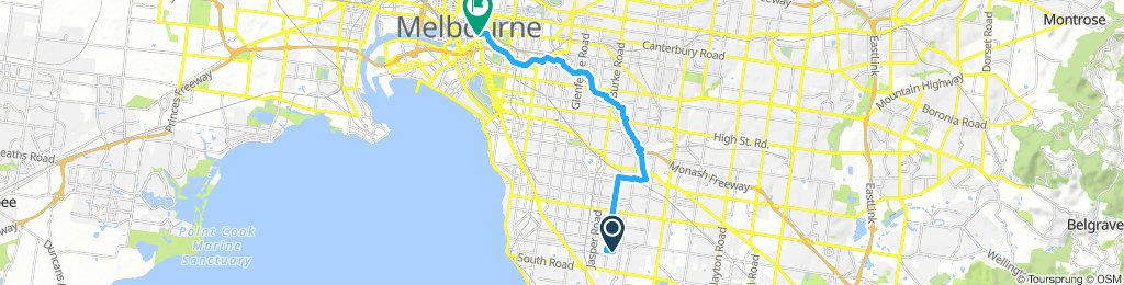 East Bentleigh to City