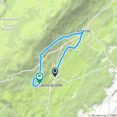 Moderate route in Mont-la-Ville