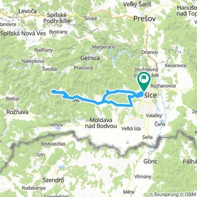 Košice - Nižný Klátov - Medzev - Štós - Smolník a späť