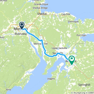 11of12 NS - 01d Moncton, NB to Amherst, NS (Lochlomond Tenting and Trailer Park) 71km