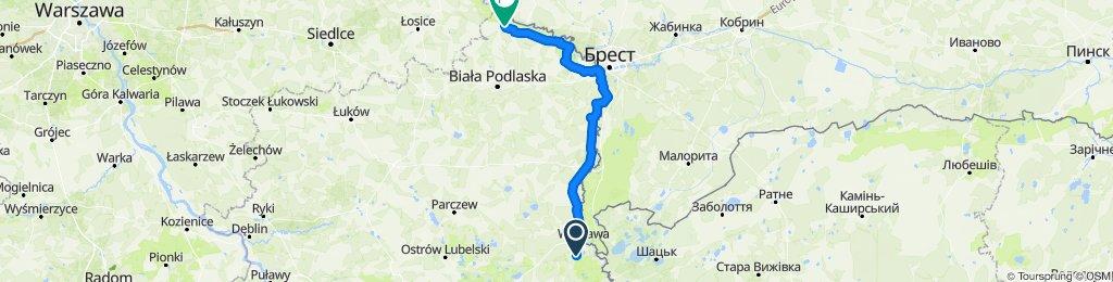 Okuninka - Janów Podlaski - Nowy Pawłów  | Wyprawa nad Morze - dzień 4 | Green Velo