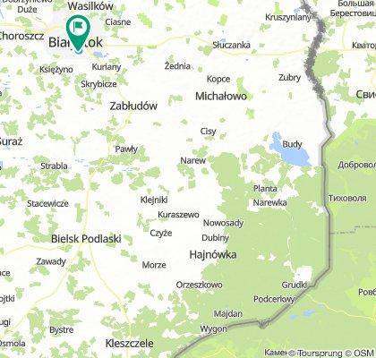 Dubicze Cerkiewne - Hajnówka - Białowieża - Białystok   Wyprawa nad Morze - dzień 6   Green Velo