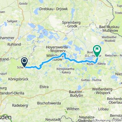 Schwepnitz - Wittichenau - Boxberg (Tag 1 von 4)