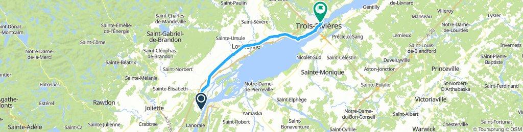 8of12 QC - 04 Lanoraie, QC to Trois-Rivières, QC (Auberge Internationale de Trois-Rivières) 71km