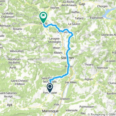 Jour 4 Forcalquier-St.Etienne-Sisteron-Vaumeilh-Monêtier-Savournon-Serres