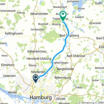 Niendorf Nord nach Übernachtungsplatz Trappenkamp