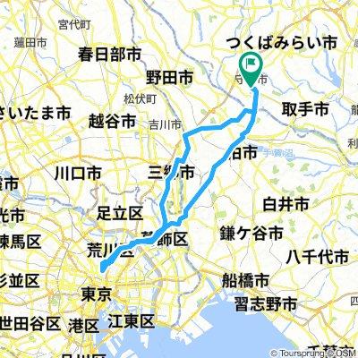 Moriya to Ueno Park and back.