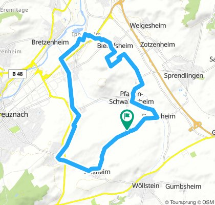 Joggingroute Pleitersh.-Pleitersh. 22 KM