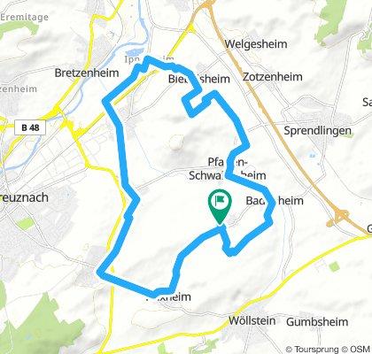Joggingroute Pleitersh.-Pleitersh. 23,2 KM