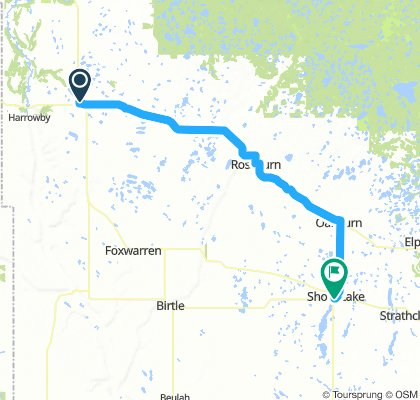 4of12 MB - 02b Russell, MB to Shoal Lake, MB (Lakeview Park Campground) 78km
