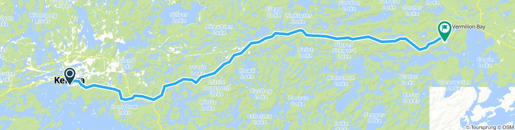 5of12 NorthernON - 02 Kenora, ON to Vermilion Bay, ON (Crystal Lake Campground) 87km