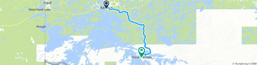 5of12 NorthernON - 02a Kenora, ON to Sioux Narrows, ON (Sioux Narrows Provincial Park Campground) 78km