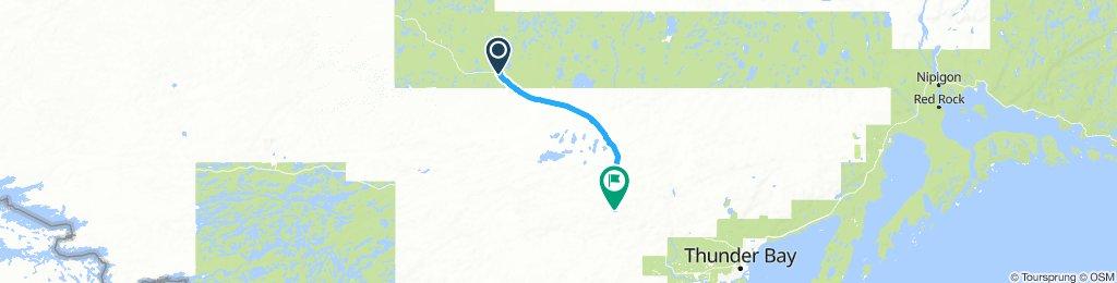 5of12 NorthernON - 06 Upsala, ON to Shebandowan, ON (Timberland Motel and Resturant) 76km