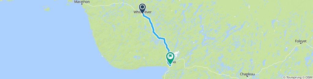 5of12 NorthernON - 12 White River, ON to Wawa, ON (Wawa Motor Inn) 92km