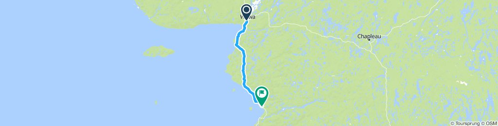 5of12 NorthernON - 13 Wawa, ON to Lake Superior PP (Wawa), ON (Agawa Bay Campground) 89km