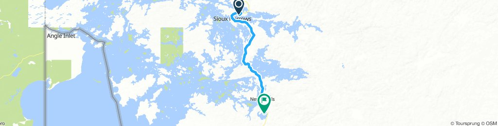 5of12 NorthernON - 03a Sioux Narrows, ON to Nestor Falls, ON (Caliper Lake Provincial Park Campground) 58km
