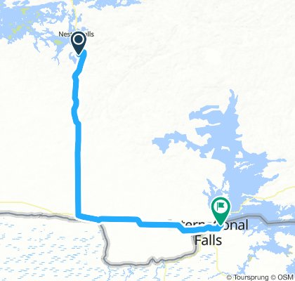 5of12 NorthernON - 04a Nestor Falls, ON to Fort Frances, ON (Point Park Tenting Area) 94km