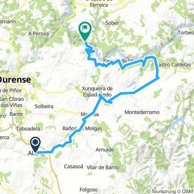 1 Allariz-Maceda-A Rodicio-la Teijeira-Mao 88km