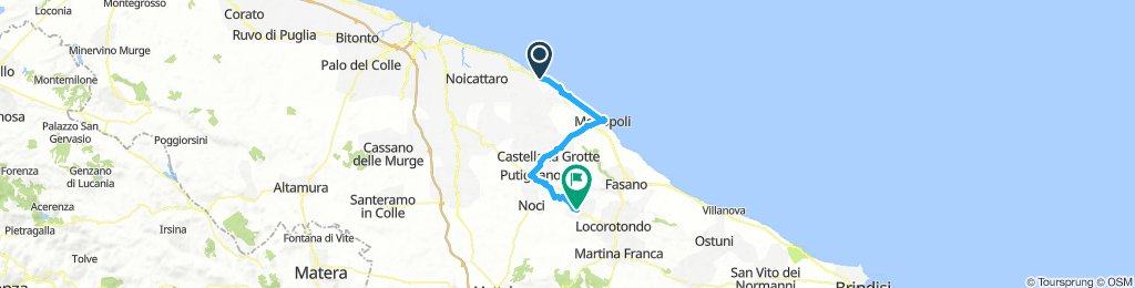 02-Cozze - P. a Mare - Monopoli - Grote di Castelana - Putignano - Alberobello 56KM