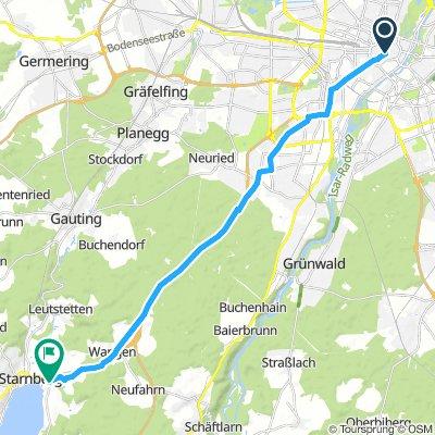 1. Etappe München Starnberg