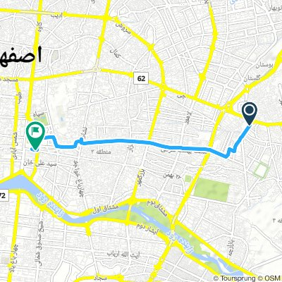 Cycling routes and bike maps in and around Isfahan | Bikemap - Your ...