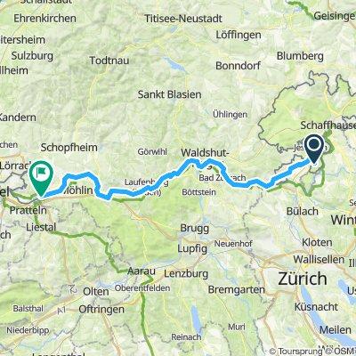 3. Etappe Nackermühle (Schaffhausen)- Rheinfelden