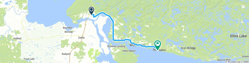 6of12 SouthCentralON - 01 Sault Ste. Marie, ON to Thessalon, ON (Thessalon Lakeside Park Campground) 84km