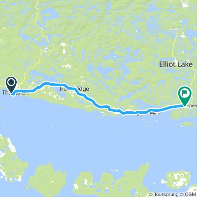 6of12 SouthCentralON - 02 Thessalon, ON to Spragge, ON (Serpent River Campground) 84km