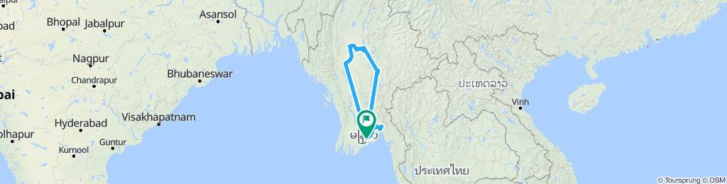 Birmania / Bago e la roccia d'oro