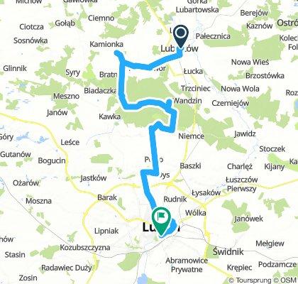 Rajd rowerowy Lubartów - Lublin (54 km)