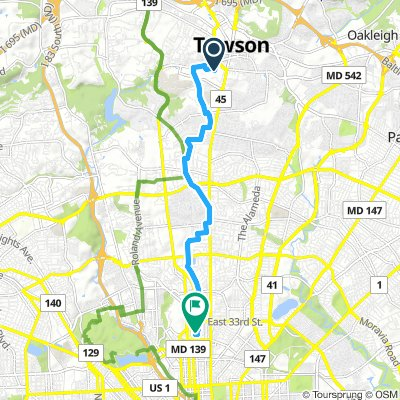 Cycling routes and bike maps in and around Towson | Bikemap