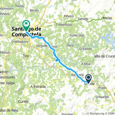 Via de la Plata 15.dan: Silleda - Santiago